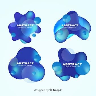 Realistic liquid shapes banner