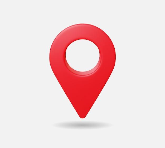 Реалистичная карта местоположения контактный gps указатель маркеры векторные иллюстрации для пункта назначения. 3d стиль.