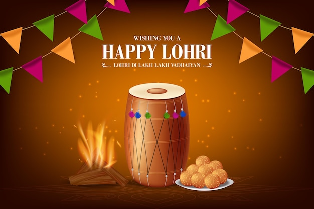 Realistic lohri festival