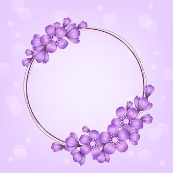 현실적인 사랑스러운 봄 꽃 프레임
