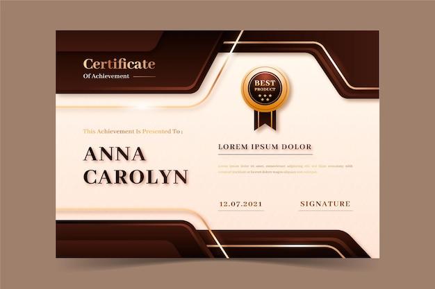 Realistic luxury certificate