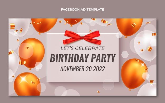 Compleanno d'oro di lusso realistico facebook
