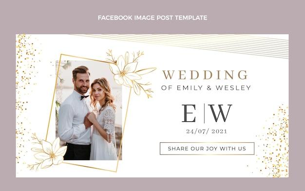 Post di facebook di nozze d'oro di lusso realistico