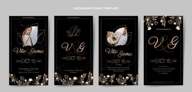 リアルで豪華なゴールデンウェディングinstagramストーリー