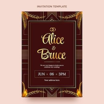 Invito a nozze d'oro di lusso realistico