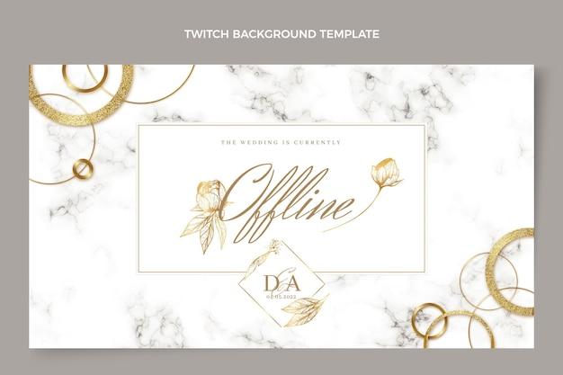 Realistic luxury golden wedding twitch background