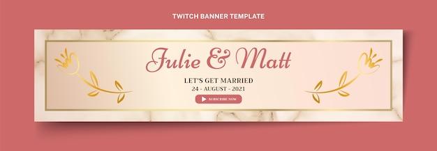 Реалистичная роскошная золотая свадьба twitch баннер