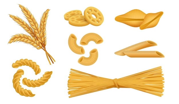 Realistic macaroni illustration