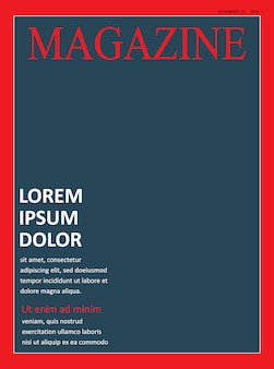 Realistic magazine cover front page template
