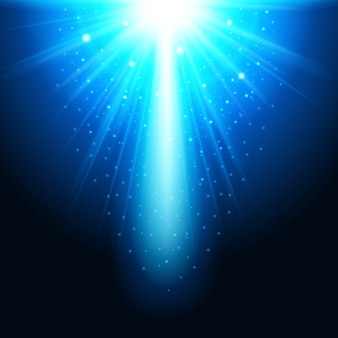 Realistic magical glow blue on a dark background