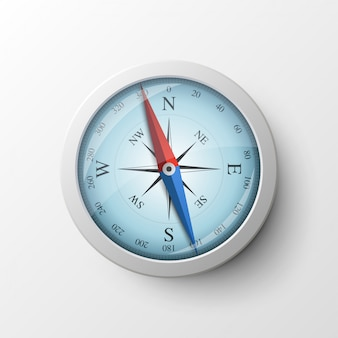 Realistic magnetic compass