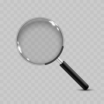 Realistic  magnifying glass icon