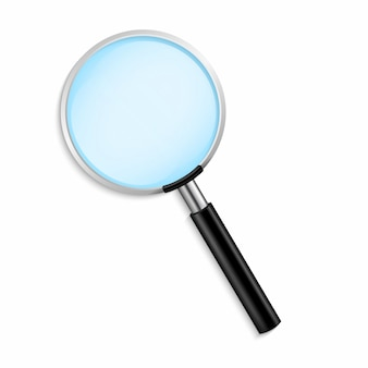 Realistic magnifying glass illustration