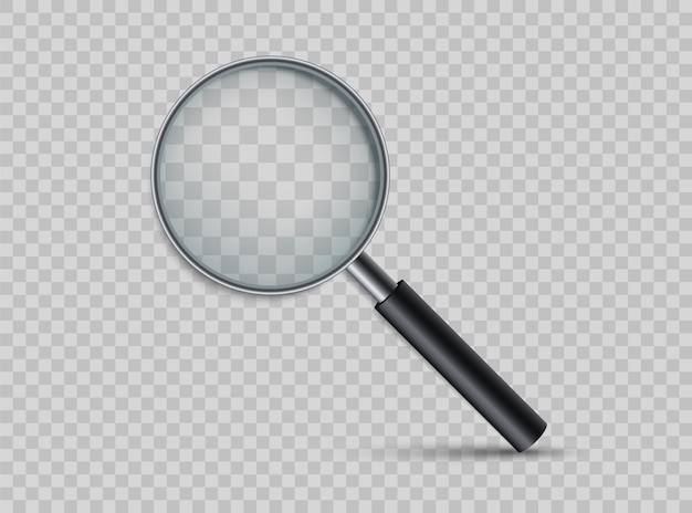 Realistic magnifying glass. loupe for magnify.