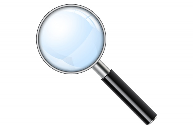 Realistic magnifying glass, magnify
