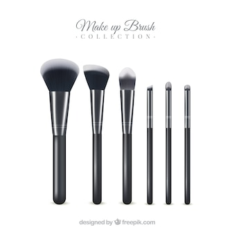 Realistic make up brush collection