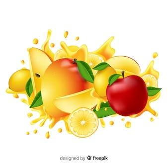 Realistic mango background