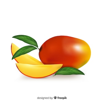 Realistic mango background