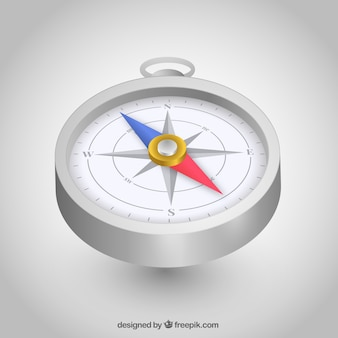 Realistic map compass background