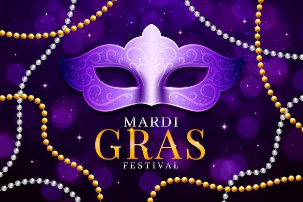 Realistic mardi gras beads