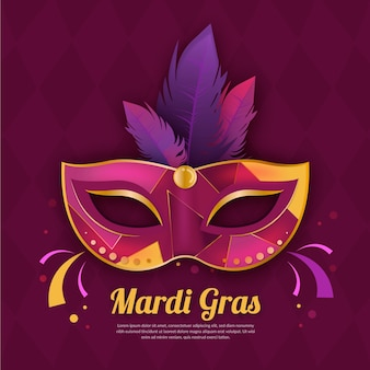 Realistic mardi gras with mask