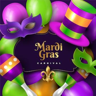 Realistic mardi gras
