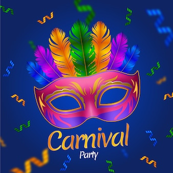 Realistic mask carnival background