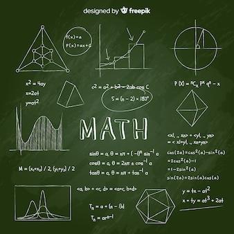 Realistic math chalkboard background