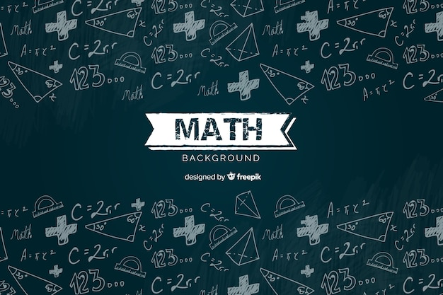 Realistic math chalkboard background