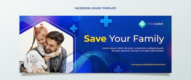 Реалистичный медицинский шаблон обложки facebook