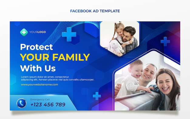 現実的な医療facebookテンプレート