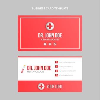 Реалистичная медицинская горизонтальная визитка