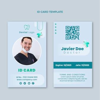 Realistic medical id card