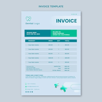 Realistic medical invoice
