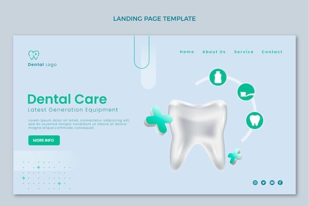 Pagina di destinazione medica realistica