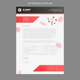 Realistic medical letterhead template