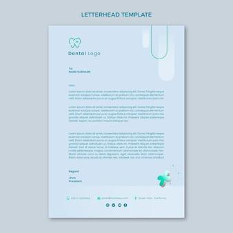 Carta intestata medica realistica
