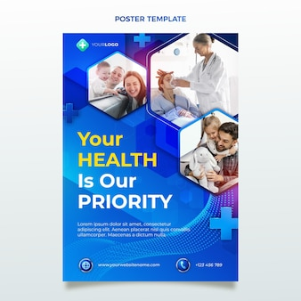 Realistic medical poster template