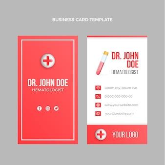 Реалистичная медицинская вертикальная визитка