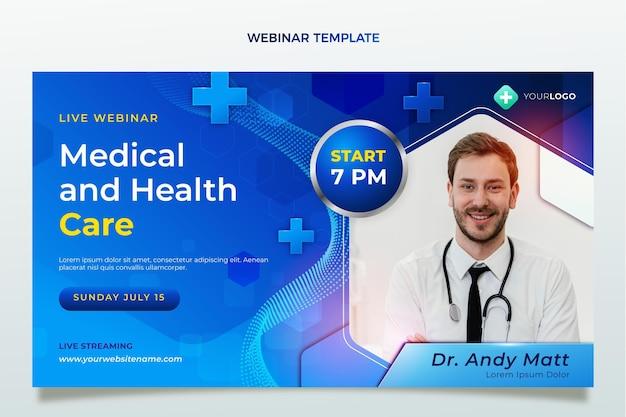 Realistic medical webinar template