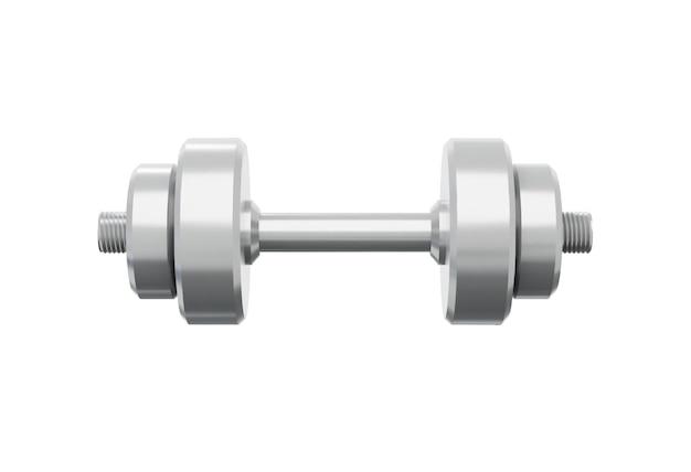 Realistic metal dumbbells vector illustration