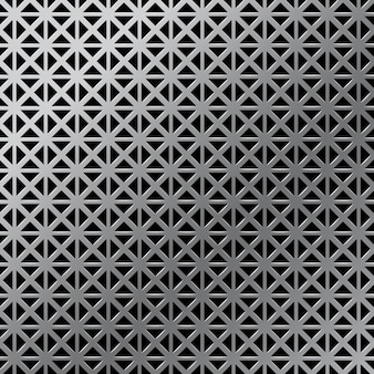 Realistic metal grid, grunge industrial background template. gradient silver or aluminum detailed metallic texture.  illustration