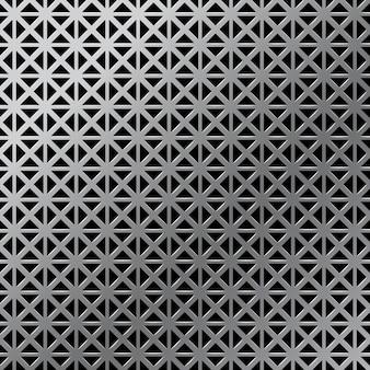 現実的な金属グリッド、グランジ産業背景テンプレート。グラデーションシルバーまたはアルミニウムの詳細なメタリックテクスチャ。図
