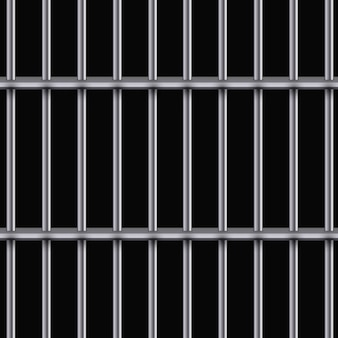 リアルな金属製の刑務所グリル。ススターマシン、鉄の独房。金属製品。図。