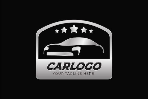 Realistic metallic car logo