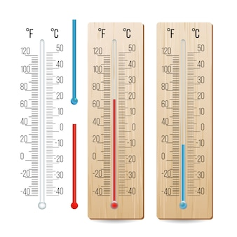 Realistic meteorological thermometer