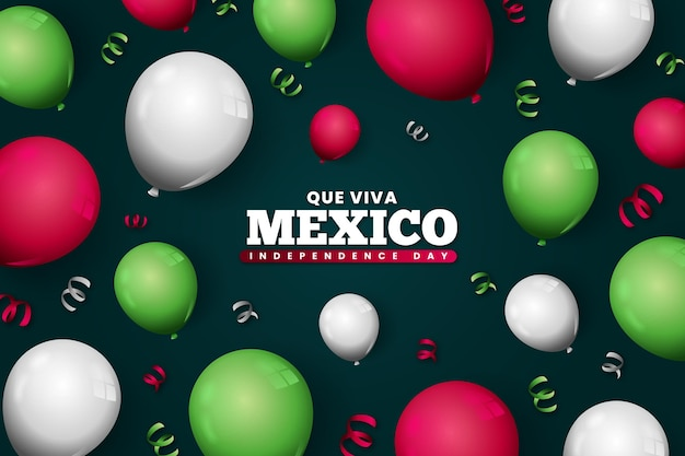 Realistic mexic independence day background