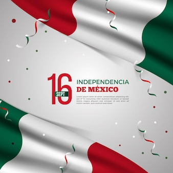 Realistic mexic independence day concept