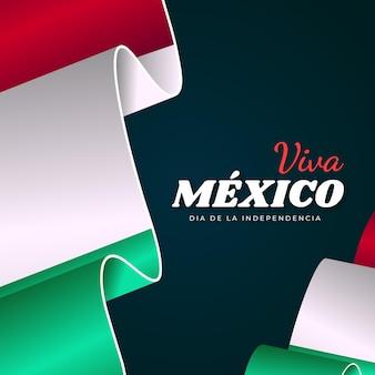 リアルなメキシコ独立記念日のコンセプト