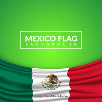Realistic mexican flag background